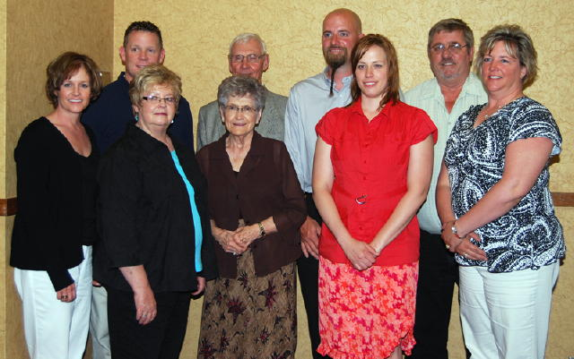 The family of the late Jack Sluiter gathered to honor Jack's induction into the South Dakota Auctioneers Hall of Fame.