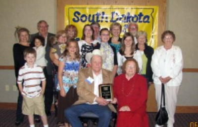 Newly elected to The South Dakota Hall of Fame Bob Penfield and His Family