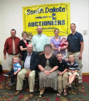 Sharing Marvin Girard's Induction into the SDAA Hall of Fame is his family