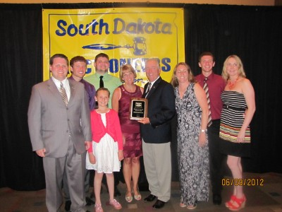 Chuck Sutton' Induction to the Hall of Fame pictured with his family.