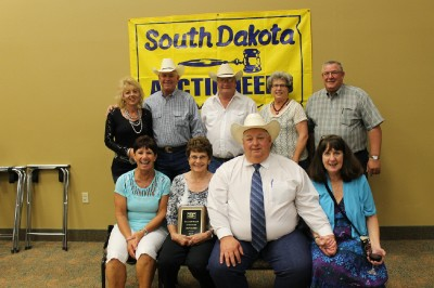 2015 Hall of Fame inductee Dan Clark (Center front) & Wife Cindy with friends and family