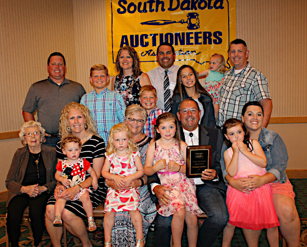2018 Hall of Fame Inductee Richard Wieman & Louise (Center) with Family